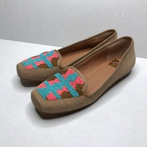 Dolce Vita Tan Multicolor Beaded Oaks Loafers